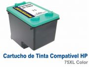 Cartucho HP 75XL - Tinta Colorida - Compatível com Impressoras HP: Officejet J-5780 ...